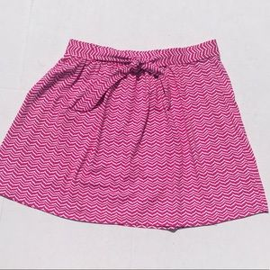 Vineyard Vines Hit Pink Chevron Print Skirt NWOT
